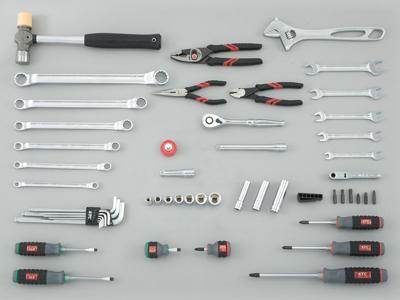 Bộ dụng cụ xách tay, KTC SK3531PT, bộ dụng cụ 53 chi tiết,