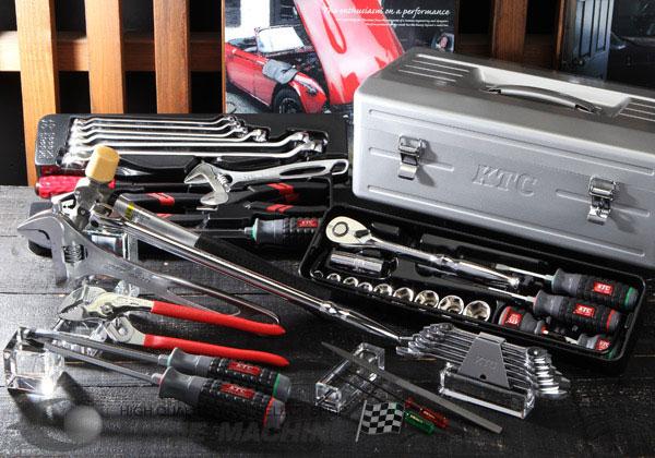 Bộ dụng cụ KTC SK444S, bộ dụng cụ sửa chữa, bộ dụng cụ với hộp đựng dụng cụ EK-3
