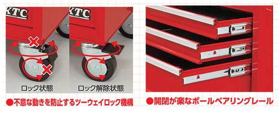 Xe dụng cụ 5 ngăn kéo, SKX3805 KTC, An Khánh phân phối KTC