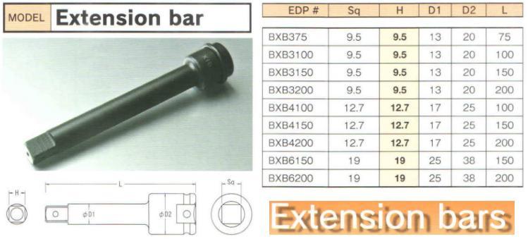 Thanh nối dài BiX, BXB3100 BiX, thannh nối dài loại 3/8 inch,