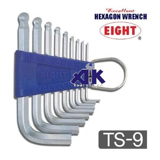 Bộ lục giác TS-9, bộ lục giác ngắn TS-9, bộ lục giác 9 cỡ nhập khẩu