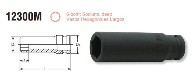Đầu khẩu Koken 1/4 inch, Koken 12300M, khẩu Koken 1/4