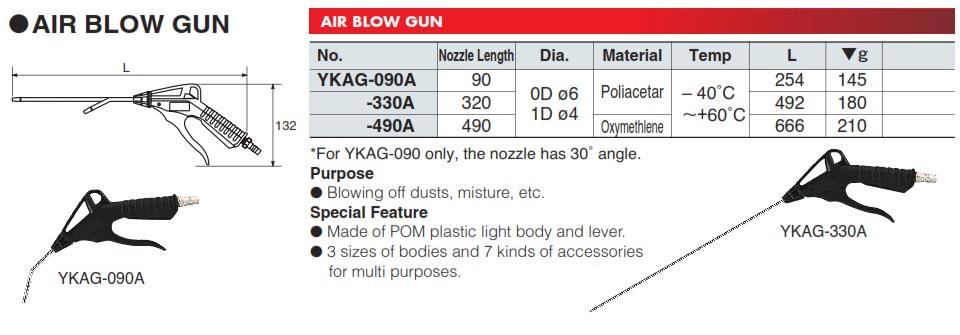 Súng xịt bụi KTC, KTC YKAG-330A, súng xịt bụi dài 320mm, súng xì khô