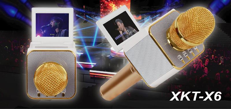 1180k - Micro Bluetooth XKT-X6 có màn hình LCD hàng loại 1 giá sỉ và lẻ rẻ nhất