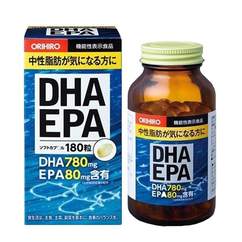 Kết quả hình ảnh cho Viên uống bổ não DHA EPA Orihiro 180 viên
