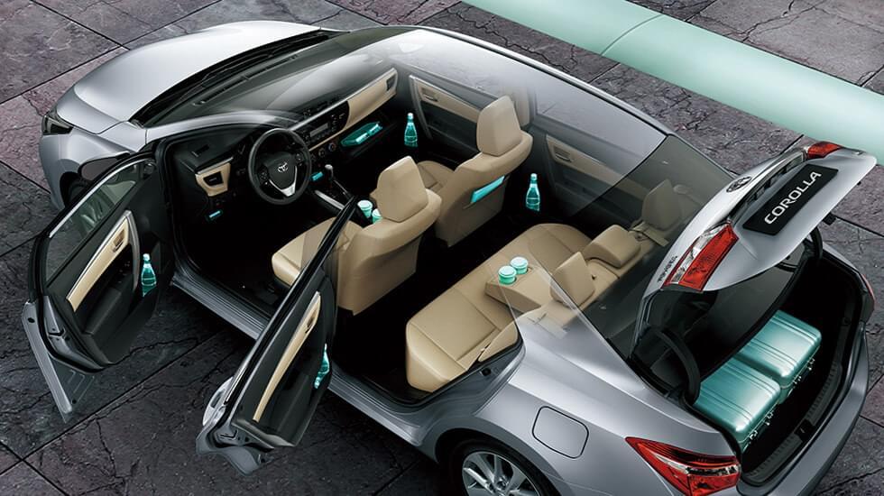 Nội thất xe Toyota Altis 2.0V thiết kế hàng ghế cao cấp