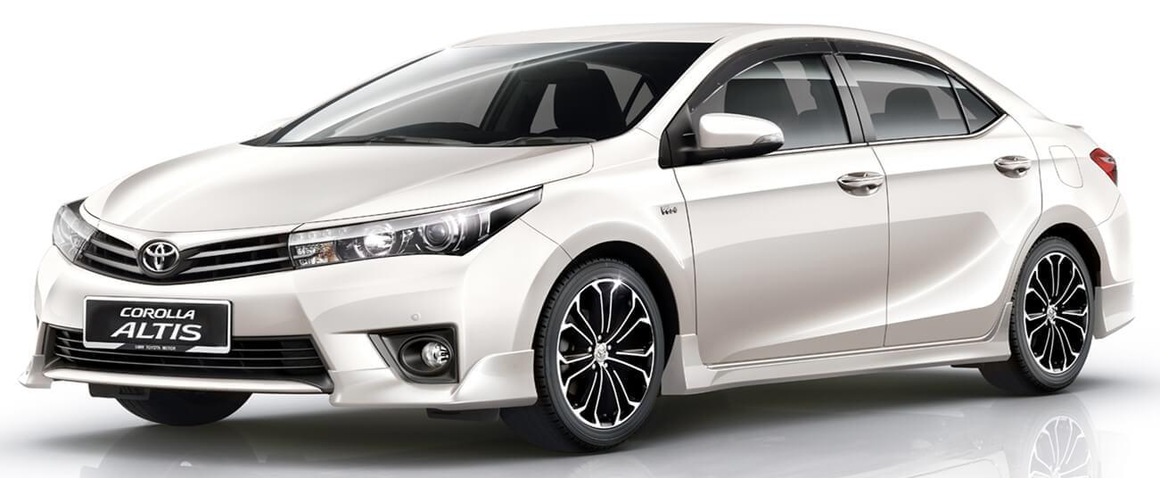 Kiểu dáng xe Toyota Altis với thiết kế mang tính khí động học.