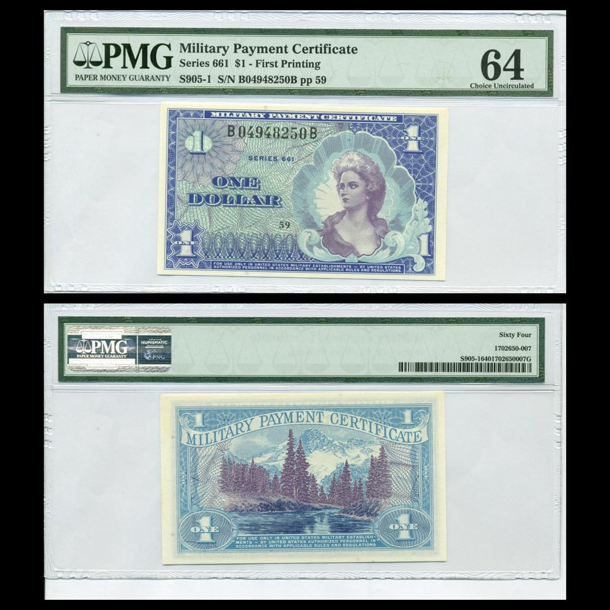 1 dollar MPC series 661