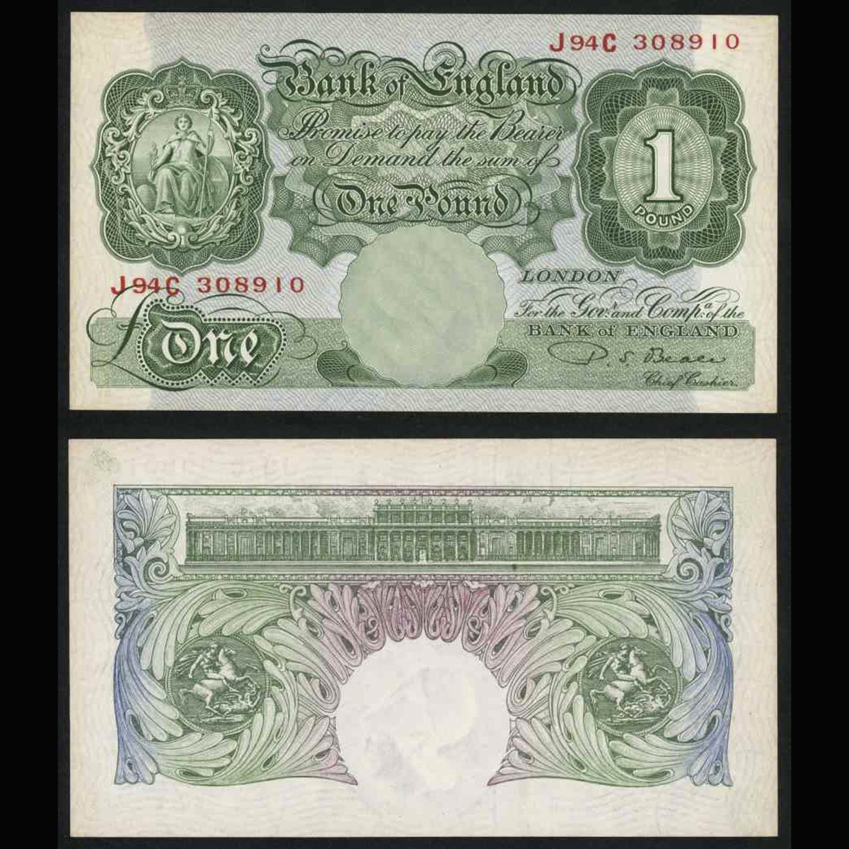 Great Britain (Anh) 1 pound 1949-55
