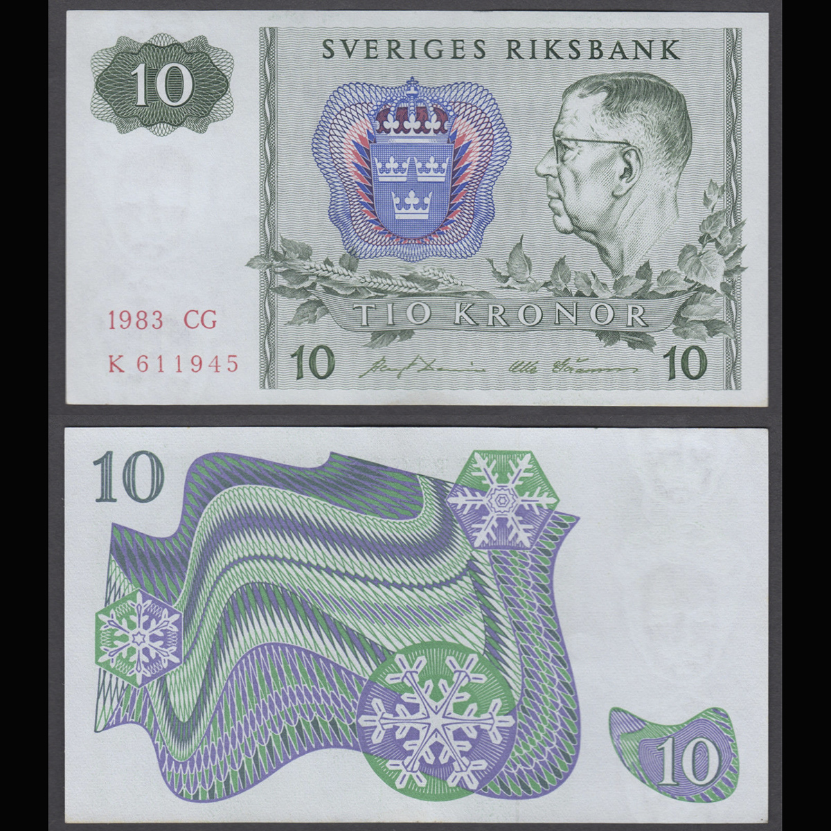 Sweden (Thụy Điển) 10 kronor 1989