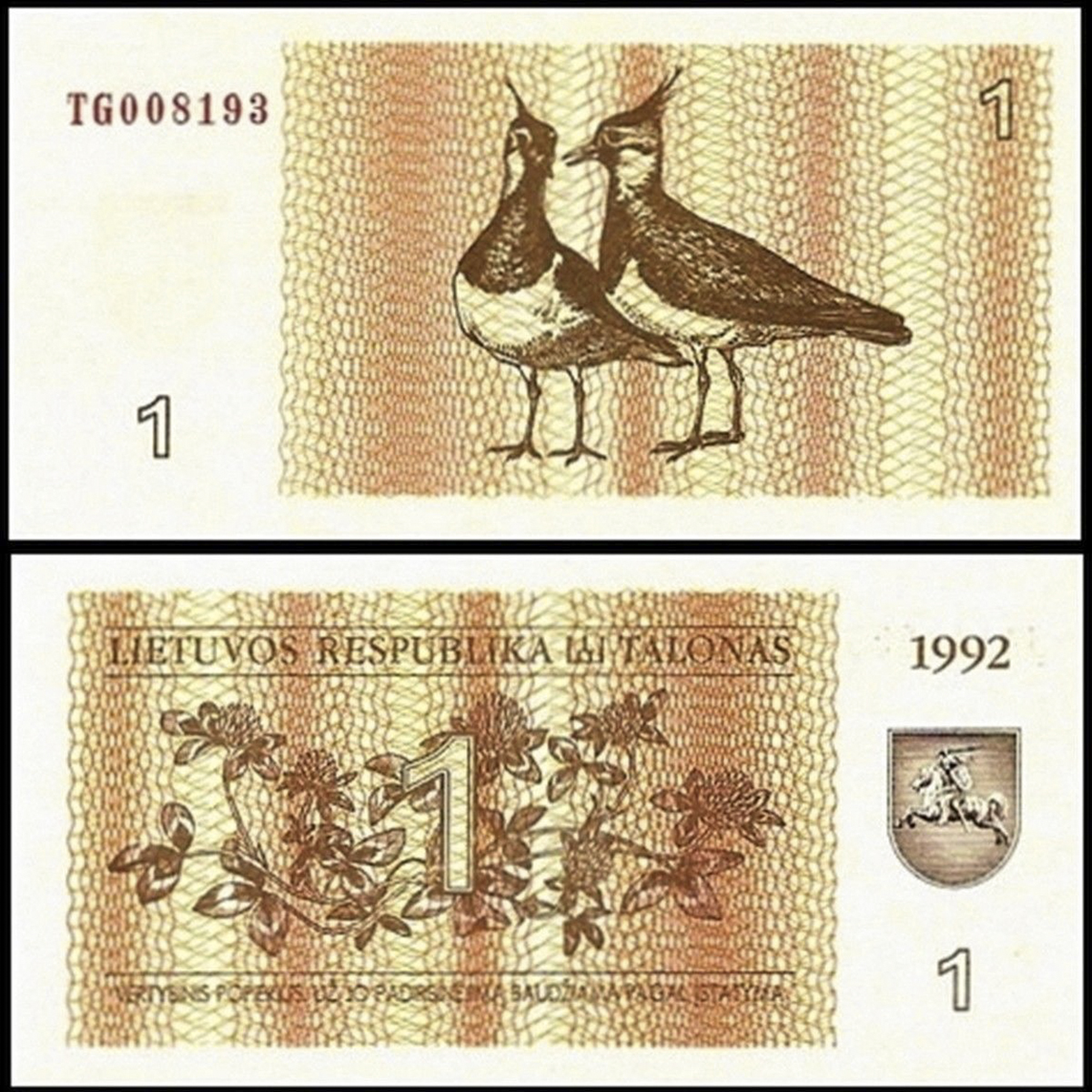 Lithuania 1 tanolas 1992
