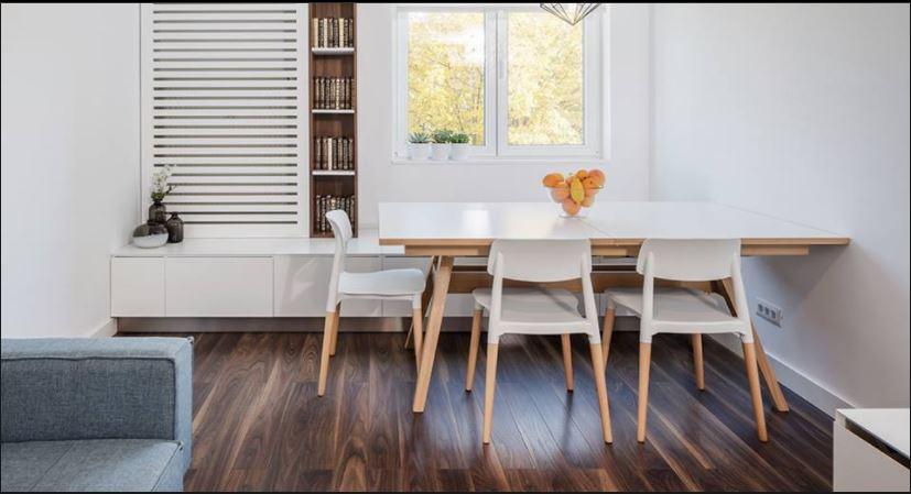 Kết quả hình ảnh cho bàn ăn gỗ công nghiệp
