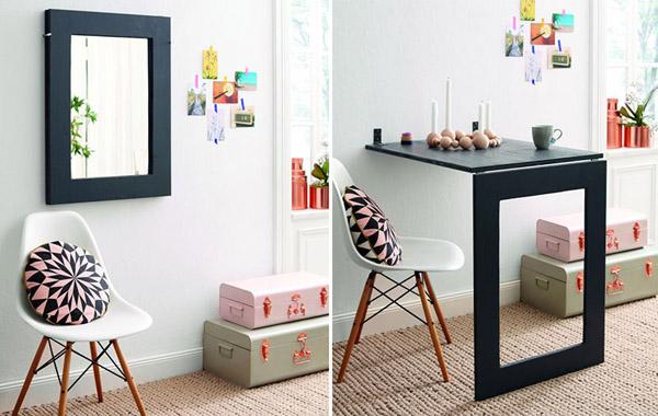 Bàn ăn treo tường này giải pháp hữu ích số một cho nội thất diện tích nhỏ