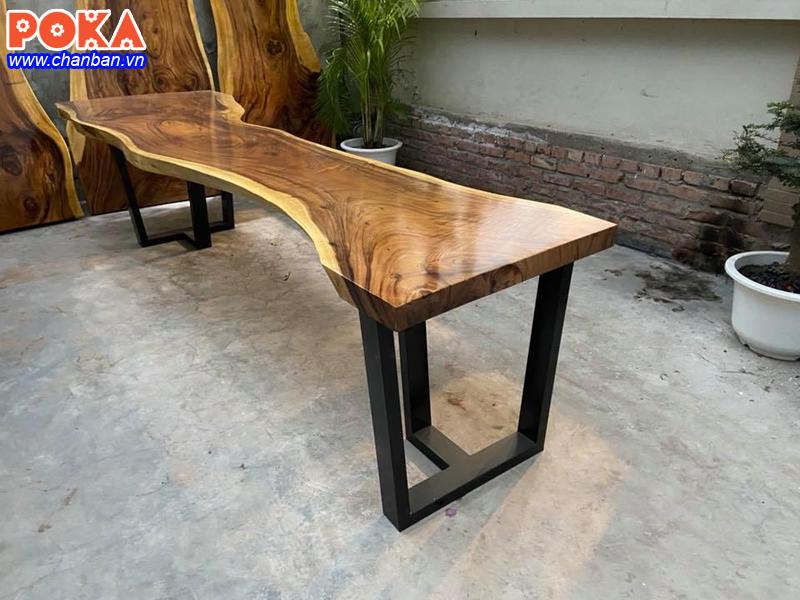 6 Mẫu chân sắt cho bàn gỗ nguyên tấm