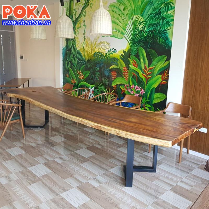 Địa chỉ bán chân sắt cho bàn gỗ nguyên tấm