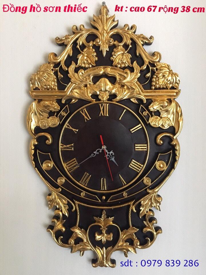 đồng hồ sơn son thiếc vàng