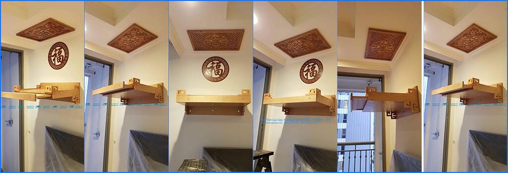 vị trí đặtbàn thờ treo tường có ngăn kéoHòa Phát
