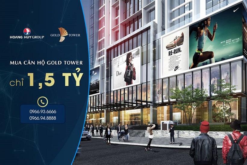 Cần bán Căn hộ cao cấp Gold Tower 275 Nguyễn Trãi 1-5-ty