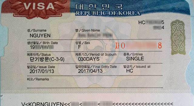 làm visa đi Hàn Quốc 2019