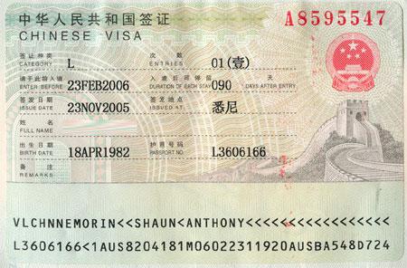 làm visa đi Trung Quốc 2019