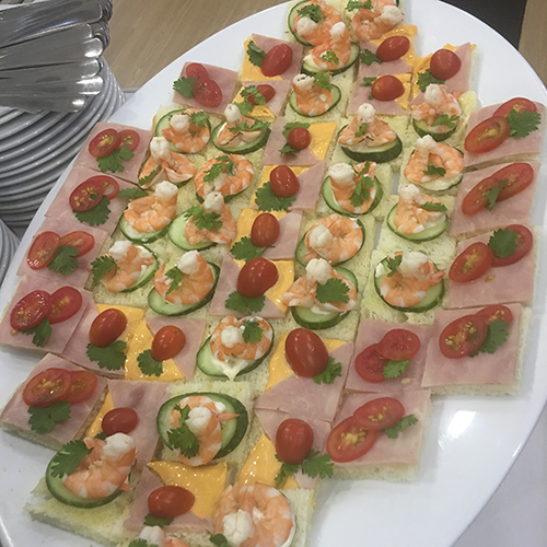 Some delightful canapé for a catering event prepared by Hoa Sua students