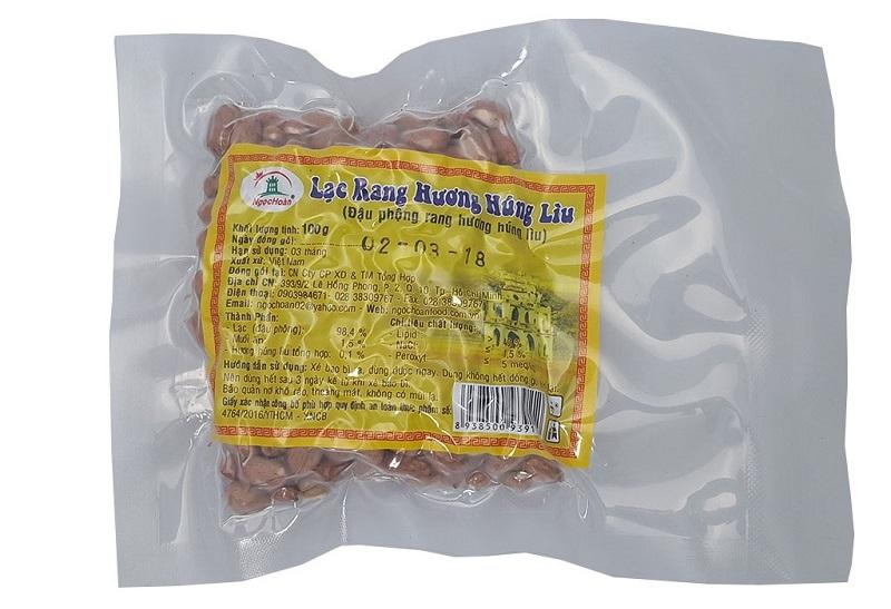 Lạc rang húng lìu Ngọc Hoàn, đảm bảoan toàn vệ sinh thực phẩm