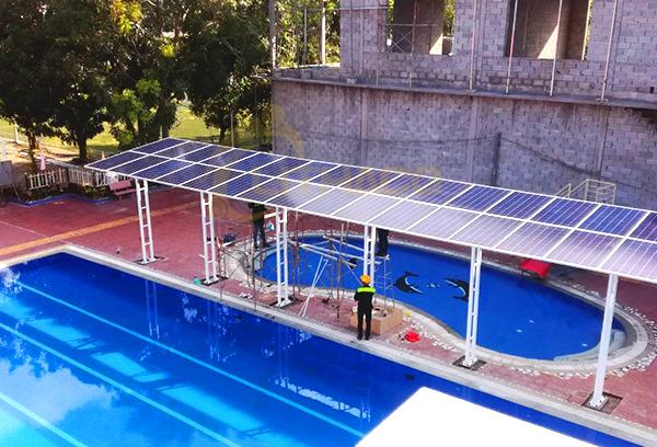 Hệ thống điện mặt trời hòa lưới 10 kWp cho hệ thống nhà chờ hồ bơi Tri Tôn tại An Giang