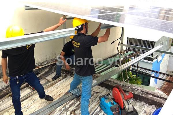 Hệ thống điện mặt trời hòa lưới 5kWp cho hộ gia đình anh Đỉnh tại Q.Tân Bình TP.HCM