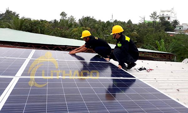 Hệ thống điện mặt trời hòa lưới 3kWp cho hộ gia đình anh Kiệt tại tỉnh Đồng Tháp
