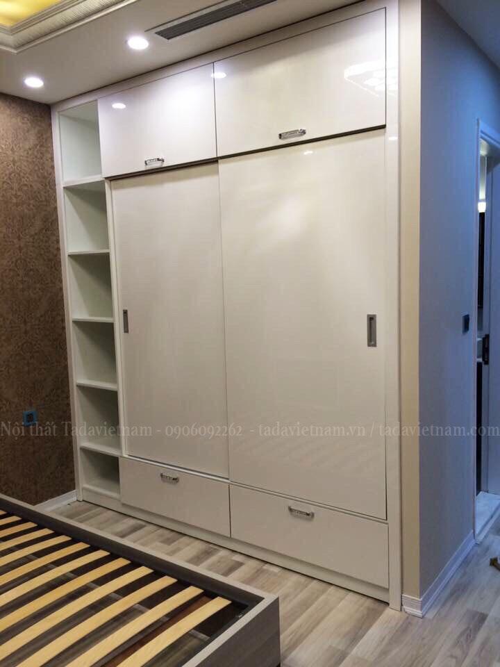 Nội thất tông trắng hiện đại cho phòng ngủ