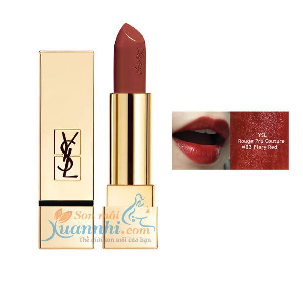 Son YSL Rouge Pur Couture # 83 Fiery Red