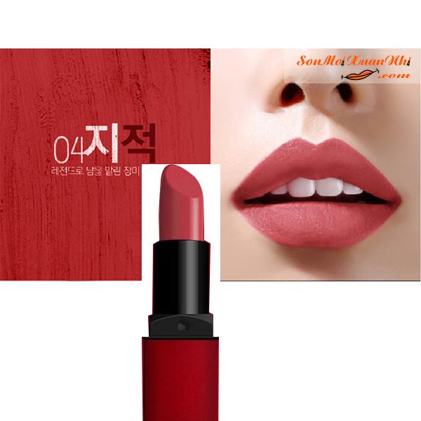 Những Thỏi Son Môi Màu Hồng Cam Của Hãng Nào Đẹp - Phù Hợp Với Da Nào Son BbiA Last Lipstick Red Series. Màu 04 Classy (Hoa Hồng Khô – Cổ Điển)