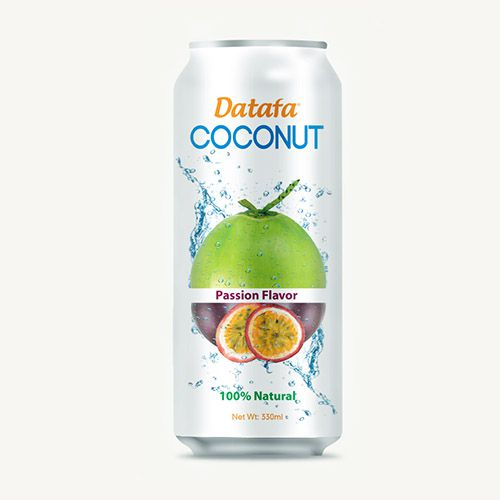 Young Coconut Water with Passion Fruit Juice