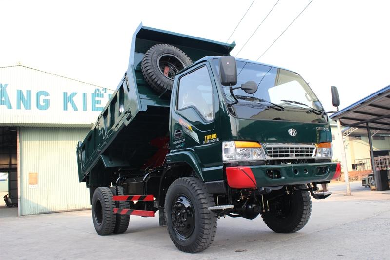 Kết quả hình ảnh cho Xe tải ben Chiến thắng 6.2 tấn 2 cầu ca bin mới