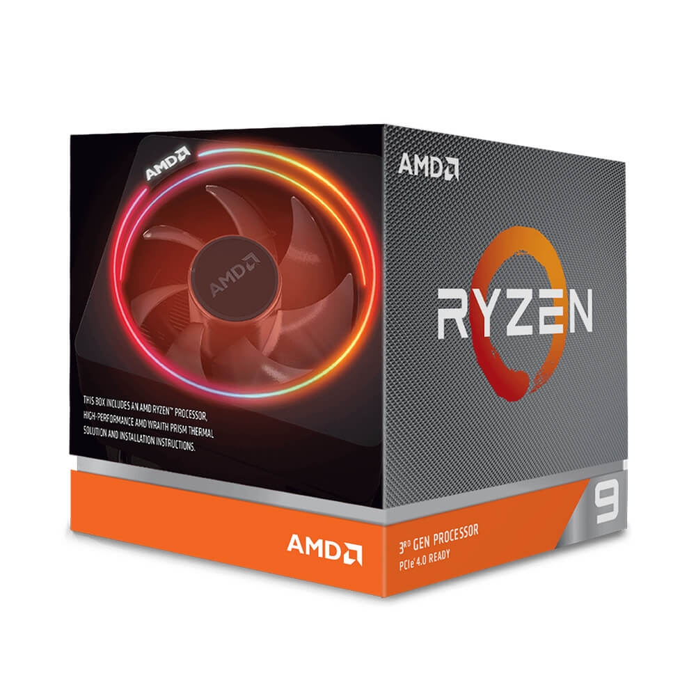 AMD Ryzen 9 3900X/ 3.8 GHz (Upto 4.6GHz) / 70MB Cache / 12 cores / 24 threads / Socket AM4