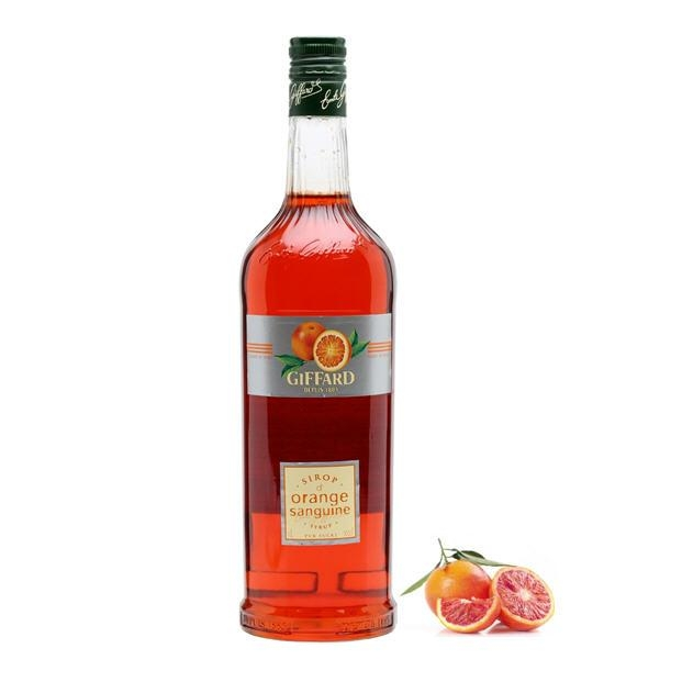 Sirô Cam đỏ Giffard Blood Orange- chai 1L