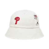 MLB Mũ Bucket Mickey White