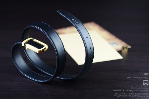 Brush brass belt