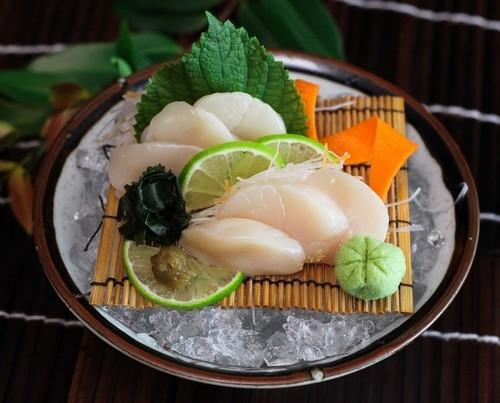 Kết quả hình ảnh cho sushi sò điệp
