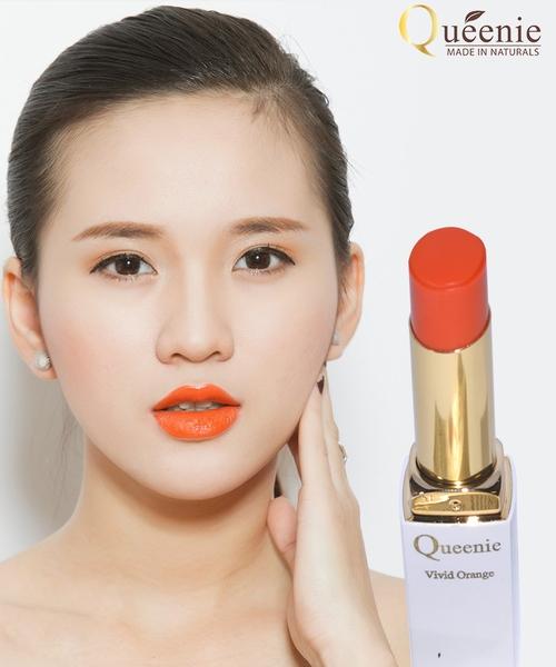 Son dưỡng môi mầu cam sống độngmỹ phẩm Queenie