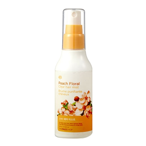 Xịt Dưỡng Tóc Peach Floral Clear Hair Mist The Face Shop