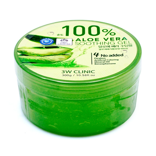 Gel dưỡng da 100 ALoe Vera Smoothing Gel 3W Clinic