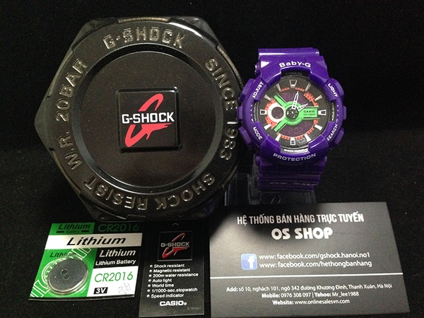 BABY-G BA-110 PURPLE - NEW 2015