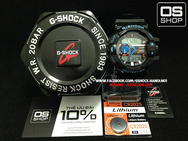 G-SHOCK GBA-400 BLACK BLUE - NEW 2015