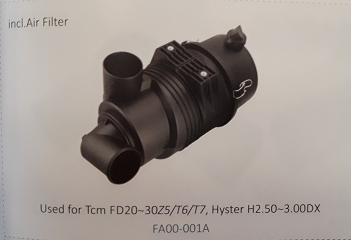 Bầu lọc gió xe nâng TCM FD20~30Z5/T6/T7, Hyster H2, 50~3.00DX, Mã SP: FA00-001A