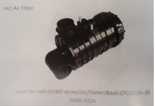 Bầu lọc gió xe nâng Heli H2000 series/Jac/Feeler/Baoli CPC (D) 20~30, Mã SP: FA00-102A