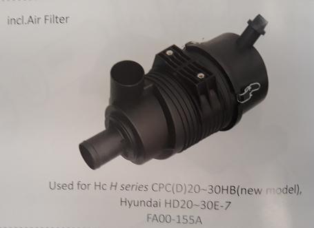 Bầu lọc gió xe nâng HC H series CPC (D)20~30HB (new model), Hyundai HD20~30E-7, Mã SP: FA00-155A