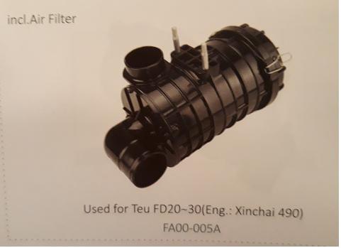 Bầu lọc gió xe nâng Teu FD20~30 (Eng.: Xinchai 490), FA00-0005A