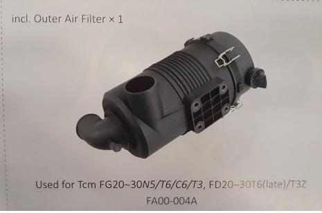 Bầu lọc gió xe nâng TCM FG20~30N5/T6/C6/T3, FD20~30T6 (late)/T3Z, Mã SP: FA00-004A
