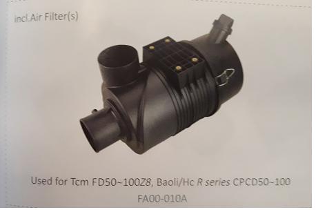 Bầu lọc gió xe nâng TCM FD50~100Z8, Baoli/Hc R series CPCD50~100, Mã SP: FA00-010A